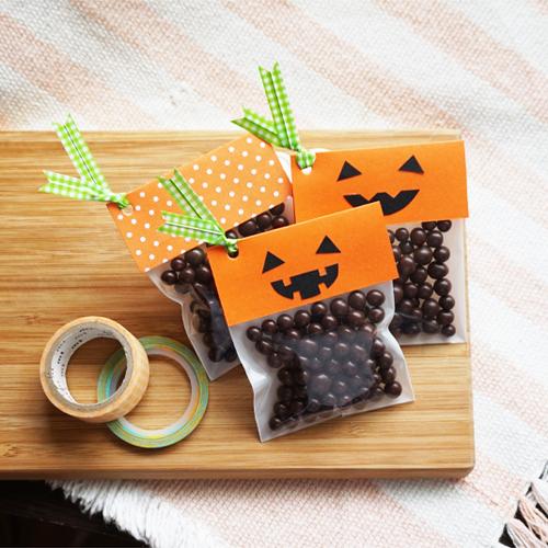 DIY Halloween Pumpkin Candy Favor Bag 萬聖節糖果包裝 Chuan Handmade (17)