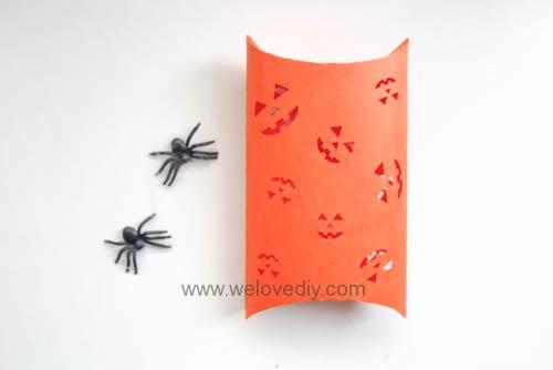 iCRAFT Halloween cutout pumpkin face pillowbox 手作拼貼切割機萬聖節派盒禮物紙盒 (1)