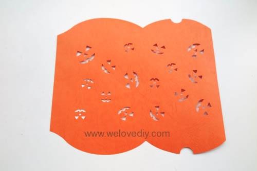 iCRAFT Halloween cutout pumpkin face pillowbox 手作拼貼切割機萬聖節派盒禮物紙盒 (3)