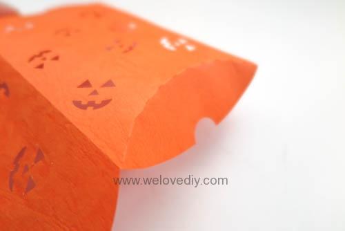 iCRAFT Halloween cutout pumpkin face pillowbox 手作拼貼切割機萬聖節派盒禮物紙盒 (5)