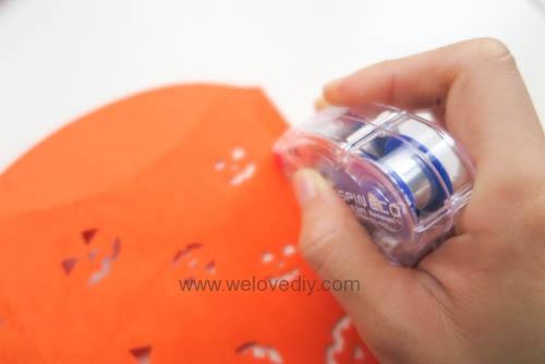 iCRAFT Halloween cutout pumpkin face pillowbox 手作拼貼切割機萬聖節派盒禮物紙盒 (6)