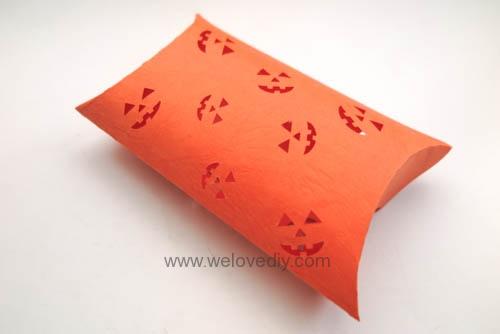 iCRAFT Halloween cutout pumpkin face pillowbox 手作拼貼切割機萬聖節派盒禮物紙盒 (7)