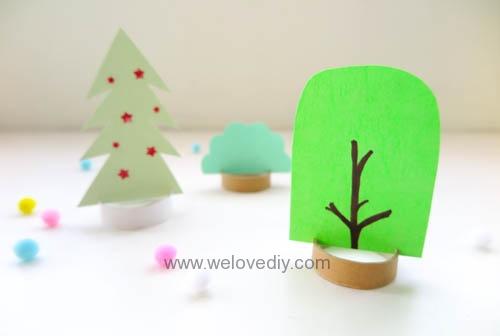 DIY 廢物利用聖誕節環保親子手作卡紙裝飾聖誕樹 (10)