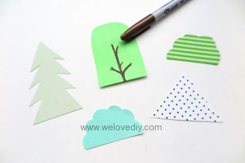 DIY 廢物利用聖誕節環保親子手作卡紙裝飾聖誕樹 (3)