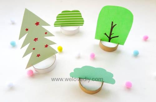 DIY 廢物利用聖誕節環保親子手作卡紙裝飾聖誕樹 (9)