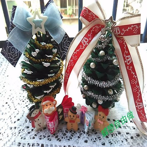 DIY 聖誕節手作松果聖誕樹 (8)