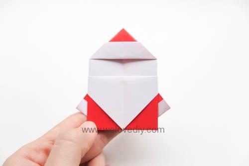 DIY 聖誕節耶誕老人聖誕老公公摺紙教學親子手作 (2)