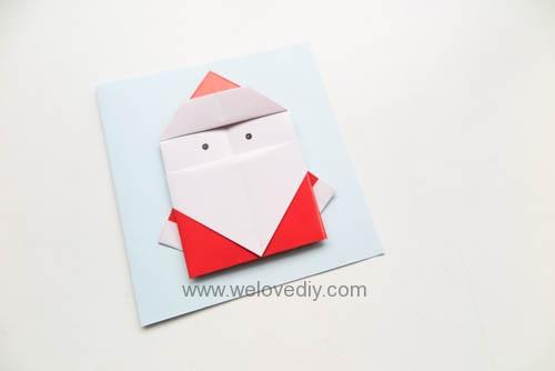 DIY 聖誕節耶誕老人聖誕老公公摺紙教學親子手作 (3)