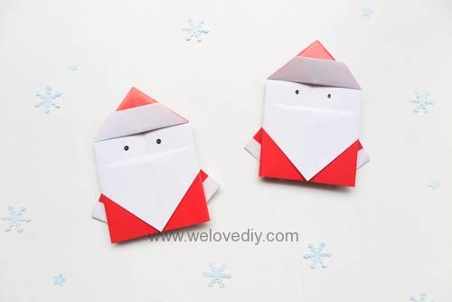 DIY 聖誕節耶誕老人聖誕老公公摺紙教學親子手作 (4)