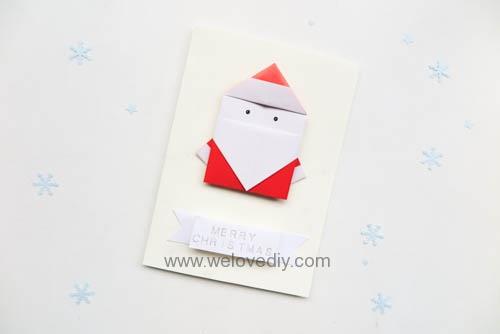 DIY 聖誕節耶誕老人聖誕老公公摺紙教學親子手作 (6)