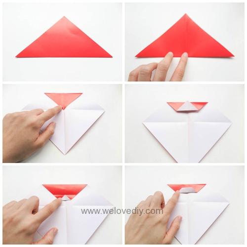 DIY 聖誕節聖誕老公公親子手作摺紙 (1)
