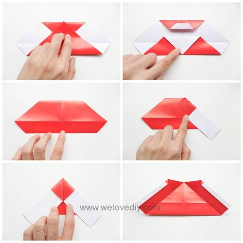 DIY 聖誕節聖誕老公公親子手作摺紙 (2)