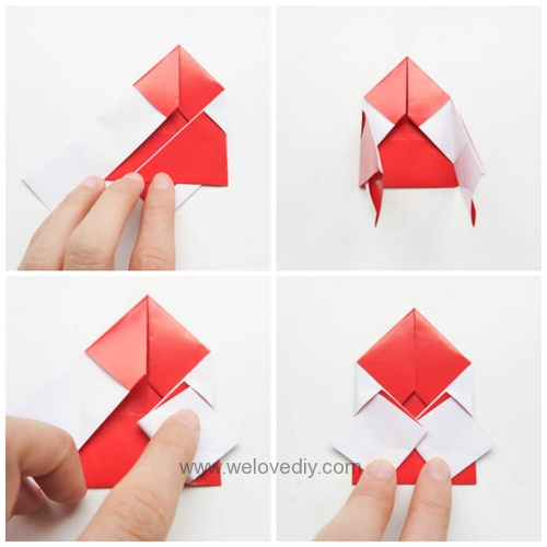 DIY 聖誕節聖誕老公公親子手作摺紙 (3)