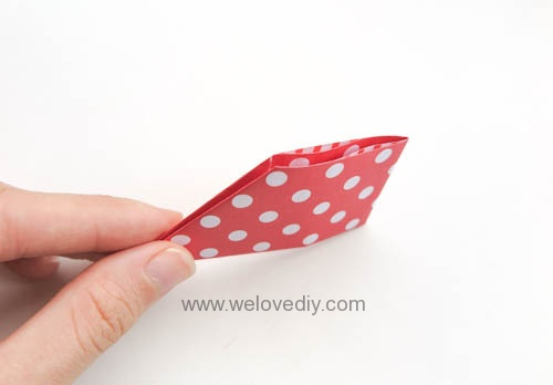 DIY DAISO origami 聖誕節耶誕裝飾花圈花環手作摺紙教學 (2)