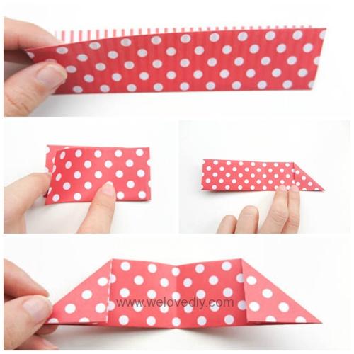 DIY DAISO origami 聖誕節耶誕裝飾花圈花環手作摺紙教學