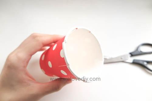 DIY Daiso 聖誕節大創紙杯手作禮物包裝盒 (5)