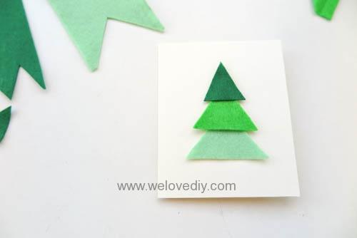 DIY Felt Christmas Cards 聖誕節親子手作毛氈不織布聖誕樹手工卡片 (4)