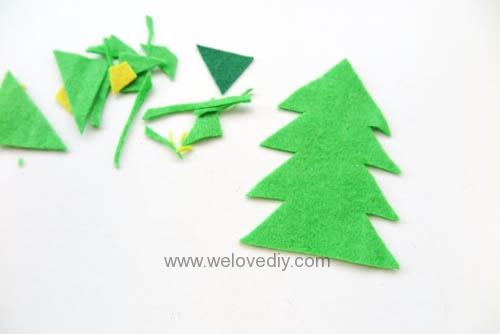 DIY Felt Christmas Cards 聖誕節親子手作毛氈不織布聖誕樹手工卡片 (6)