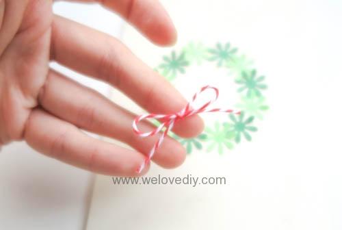 DIY Handmade Christmas Wreath Card 聖誕節花圈造型打洞器剪紙卡片手作耶誕賀卡 (6)