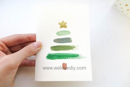 DIY LAST MINUTE Christmas Card 聖誕節手作指甲油手工耶誕賀卡 (8)