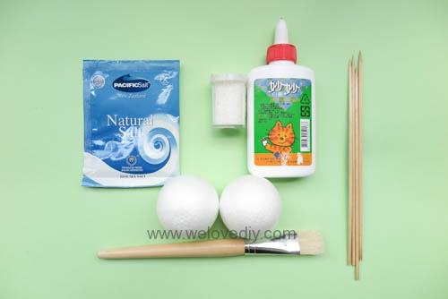 DIY Snowball 聖誕節白色雪球吊飾親子手作 (1)