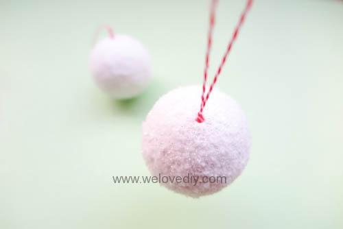 DIY Snowball 聖誕節白色雪球吊飾親子手作 (10)