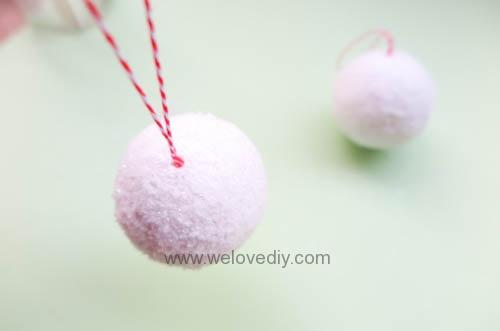 DIY Snowball 聖誕節白色雪球吊飾親子手作 (11)