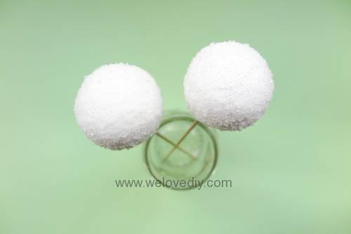 DIY Snowball 聖誕節白色雪球吊飾親子手作 (6)