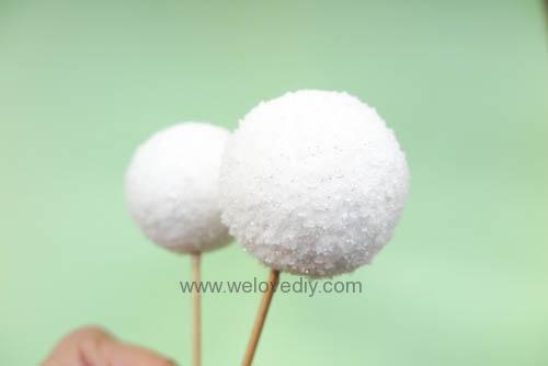 DIY Snowball 聖誕節白色雪球吊飾親子手作 (7)