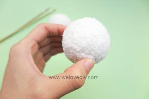 DIY Snowball 聖誕節白色雪球吊飾親子手作 (8)