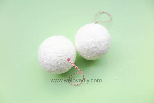 DIY Snowball 聖誕節白色雪球吊飾親子手作 (9)