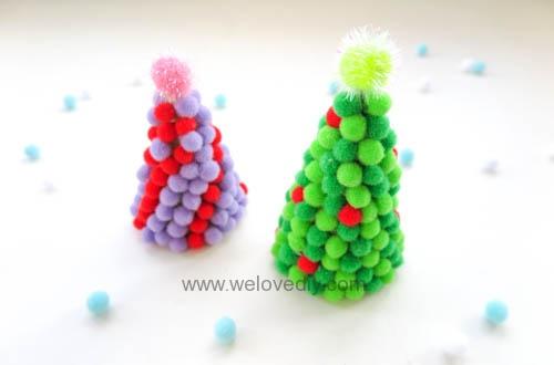 DIY pompom christmas tree 聖誕節手作彩球裝飾聖誕樹 (13)