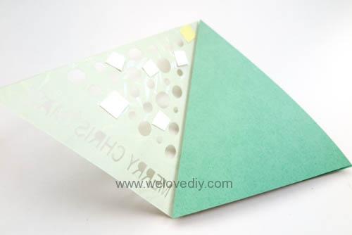 iCRAFT Christmas tree cutout card 手作拼貼切割機聖誕節聖誕樹造型三角形卡片 (2)