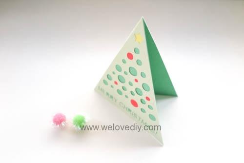 iCRAFT Christmas tree cutout card 手作拼貼切割機聖誕節聖誕樹造型三角形卡片 (7)