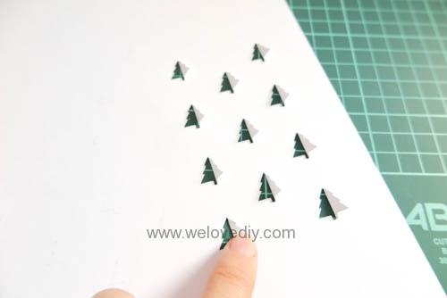 iCRAFT Christmas tree cutout cut and fold card 手作拼貼切割機聖誕節聖誕樹造型卡片 (2)