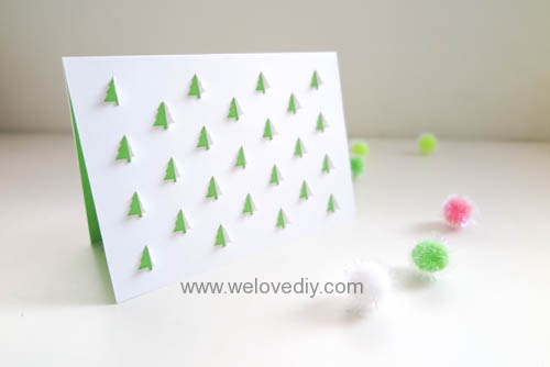 iCRAFT Christmas tree cutout cut and fold card 手作拼貼切割機聖誕節聖誕樹造型卡片 (5)