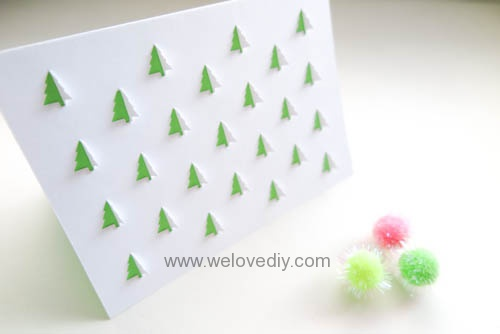 iCRAFT Christmas tree cutout cut and fold card 手作拼貼切割機聖誕節聖誕樹造型卡片 (7)