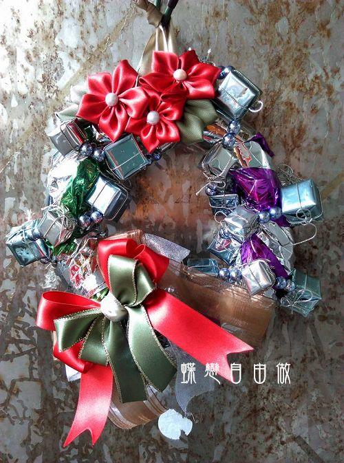 DIY 耶誕節手作聖誕花圈 (7)