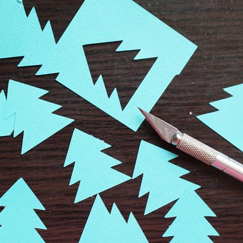 DIY 聖誕節可愛聖誕樹串旗卡片手作信封 CHUAN HANDMADE (12)