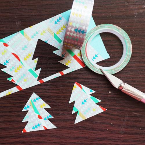 DIY 聖誕節可愛聖誕樹串旗卡片手作信封 CHUAN HANDMADE (13)