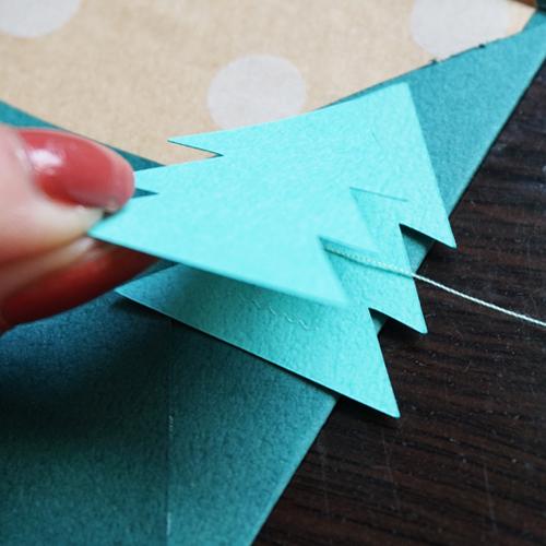 DIY 聖誕節可愛聖誕樹串旗卡片手作信封 CHUAN HANDMADE (14)