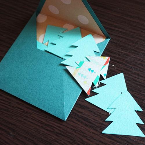 DIY 聖誕節可愛聖誕樹串旗卡片手作信封 CHUAN HANDMADE (15)