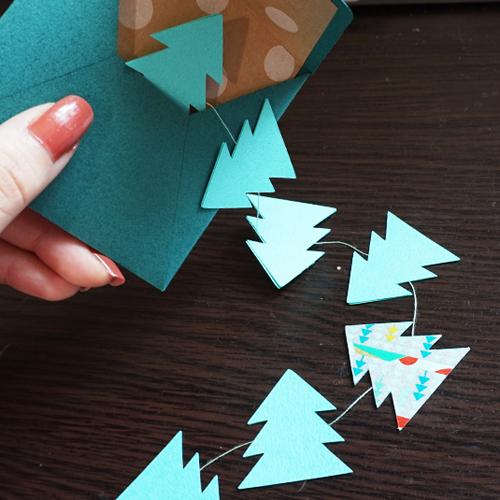 DIY 聖誕節可愛聖誕樹串旗卡片手作信封 CHUAN HANDMADE (16)