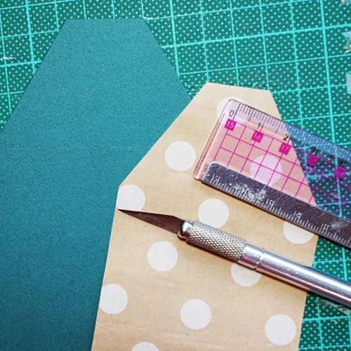 DIY 聖誕節可愛聖誕樹串旗卡片手作信封 CHUAN HANDMADE (4)