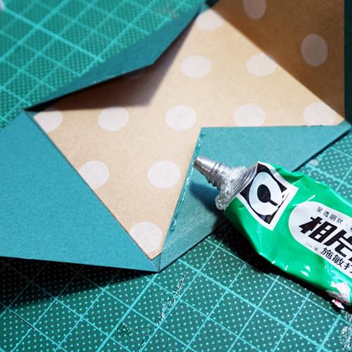 DIY 聖誕節可愛聖誕樹串旗卡片手作信封 CHUAN HANDMADE (8)