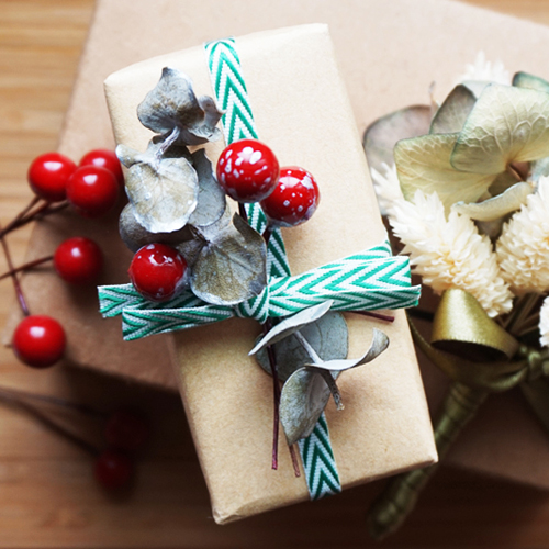 DIY 聖誕節果葉系禮物包裝教學 Chuan Handmade (1)