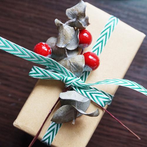 DIY 聖誕節果葉系禮物包裝教學 Chuan Handmade (17)