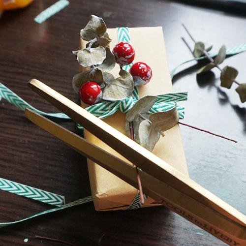 DIY 聖誕節果葉系禮物包裝教學 Chuan Handmade (18)