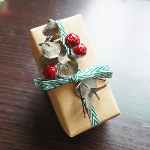 DIY 聖誕節果葉系禮物包裝教學 Chuan Handmade (19)
