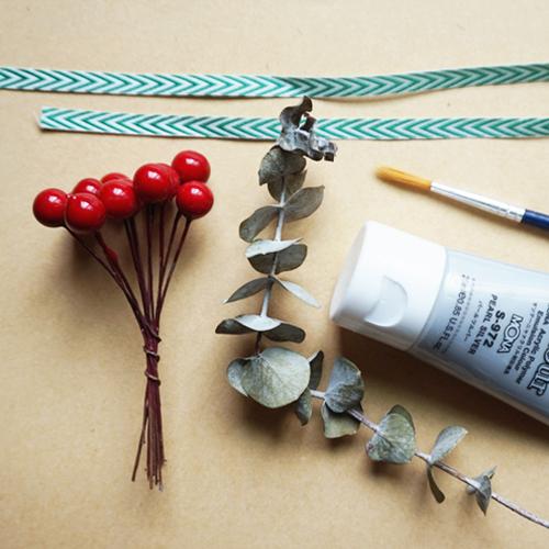 DIY 聖誕節果葉系禮物包裝教學 Chuan Handmade (2)